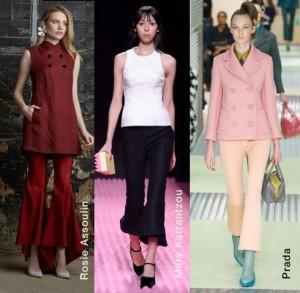 Quần loe dạng lửng trong các BST Thu-Đông 2015 của các thương hiệu thời trang cao cấp