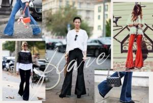Các fashionista phối trang phục sành điệu và đa dạng với quần ống loe
