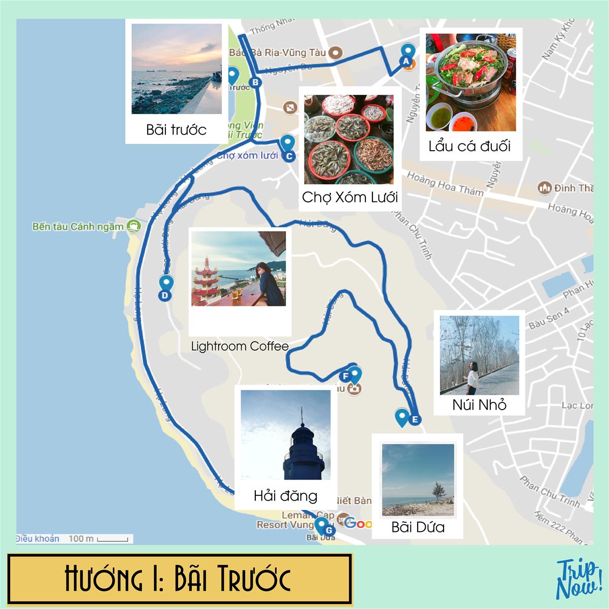 Bản đồ du lịch check-in Vũng Tàu